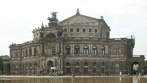 Semper Opera house is one of Dresden's most important cultural facilities.