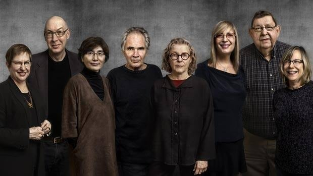The 2011 winners of the Governor General's Awards in visual and media arts are, from left, Nancy Tousley, Robert Fones, Kye-Yeon Son, David Rimmer, Barbara Sternberg, Geneviève Cadieux, Michael Morris and Shirley Wiitasalo.