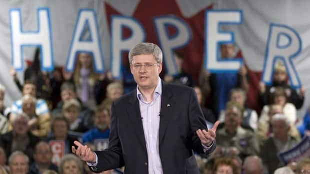 Prime Minister Stephen Harper on the hustings during the 2011 election campaign, during which he promised to double the contribution limit for tax-free savings accounts.
