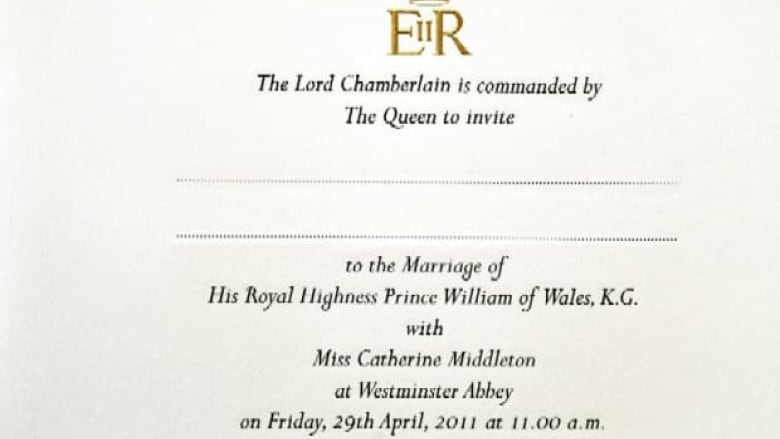 Royal Wedding Invitations In The Mail Cbc News