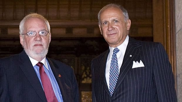 Senators Irving Gerstein and Doug Finley are among four Conservative Party members facing charges under the Elections Canada Act. The next court hearing will be in September.