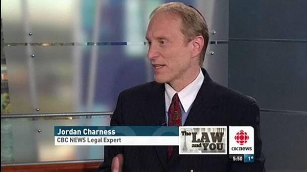 Jordan Charness joins CBC Montreal every week to give his take on legal hot button issues.