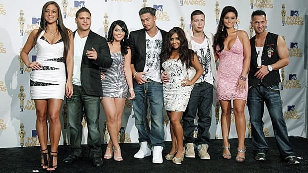 Abercrombie & Ftitch will make the offer to the cast of Jersey Shore, shown here at the MTV movie awards.
