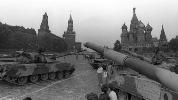 Twenty years ago senior Soviet leaders tried and failed to oust Mikhail Gorbachev in a coup. On Aug. 19, 1991 the coup plotters ordered that tanks take position on Red Square outside the Kremlin in Moscow.