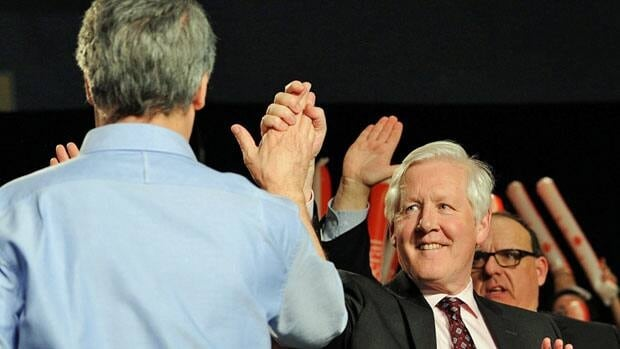 Liberal MP Bob Rae, right, is said to be former prime minister Jean Chretien's choice for the party's interim leader.