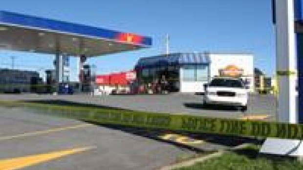 The attack happened at a gas station in Dartmouth, N.S.
