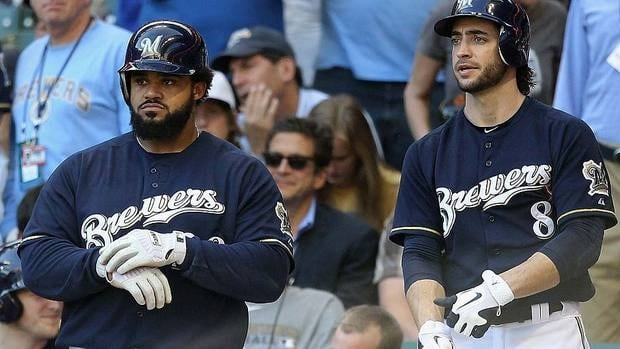 Led by Prince Fielder, left, and Ryan Braun, the Brewers won the NL Central division title and advanced to the league championship series where they fell to the eventual World Series champion St. Louis Cardinals.