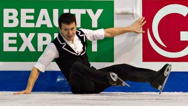 Patrick Chan said hello to the side boards after landing a combination on Friday in the ISU Grand Prix final short program. That didn't stop the defending world champion from nailing the rest of his program.