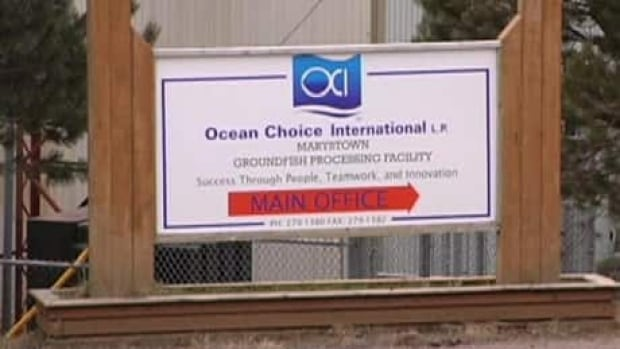 Ocean Choice International is seeking new financial terms for its plant in Marystown.