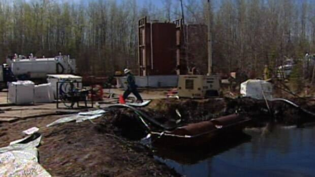 Plains Midstream Canada was able to remove about one-third of the spilled oil before wildfires forced workers to suspend clean-up operations on the weekend. CBC