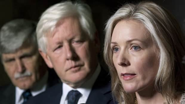 Senator Romeo Dallaire, Liberal Interim Leader Bob Rae and Stephanie Richardson, whose daughter committed suicide, called for a national suicide prevention strategy Tuesday on Parliament Hill.