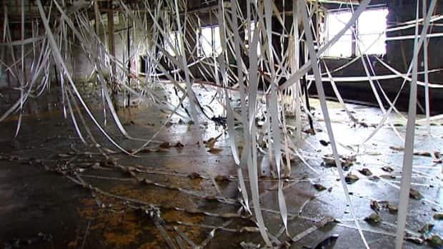An estimated $100,000 worth of copper wire has been stolen from the former Britex textile plant building.