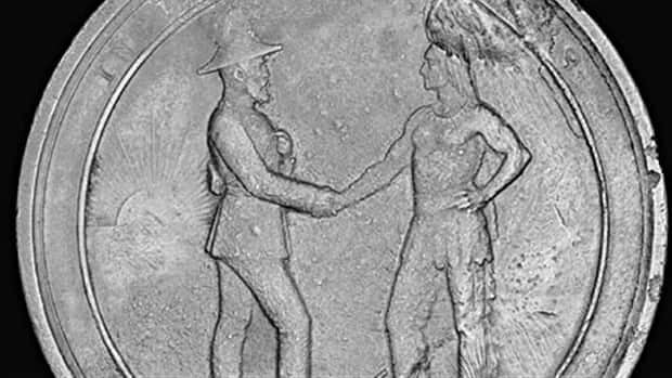 Medals, such as this one, were presented to chiefs who signed certain treaties.