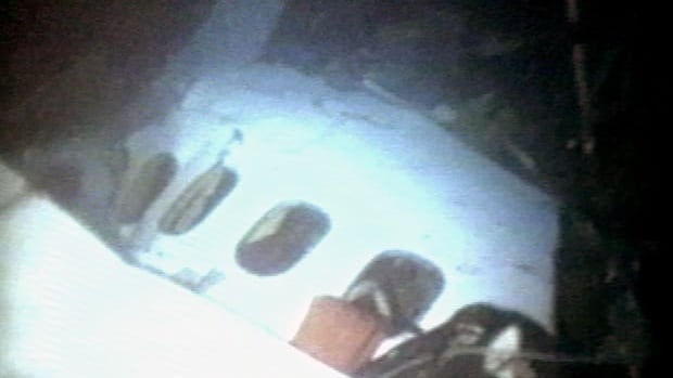 The cargo hold of  the Swissair plane that crashed in 1998 was supposed to contain $500 million worth of diamonds and jewelry. The plane wreckage is filmed by divers off Peggys Cove, N.S., 18 days after the crash.