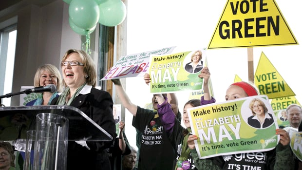 Green Party leader Elizabeth May kicks off her national election campaign near  Victoria, B.C., on Saturday morning.