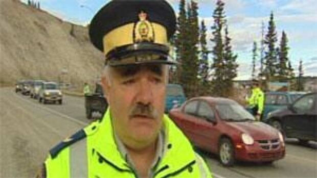 Yukon RCMP Cpl Shawn Pollard says Whitehorse officers caught nearly two dozen people talking on cellphones while driving on Friday. (CBC)