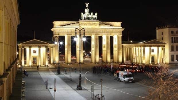 The Brandenburg Gate is Berlin's most famous landmark.