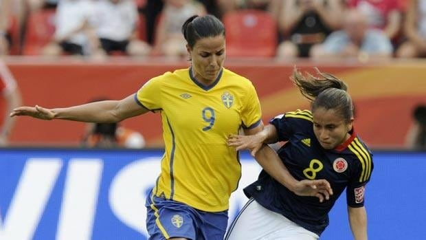 Jessica Landstrom scored the lone goal in Sweden's 1-0 win over Colombia.