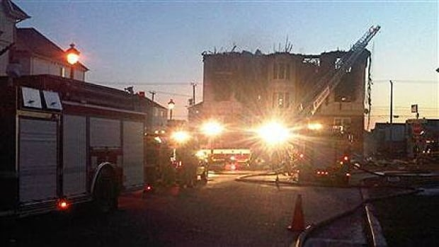 Fire crews from three municipalities brought the blaze under control by morning.