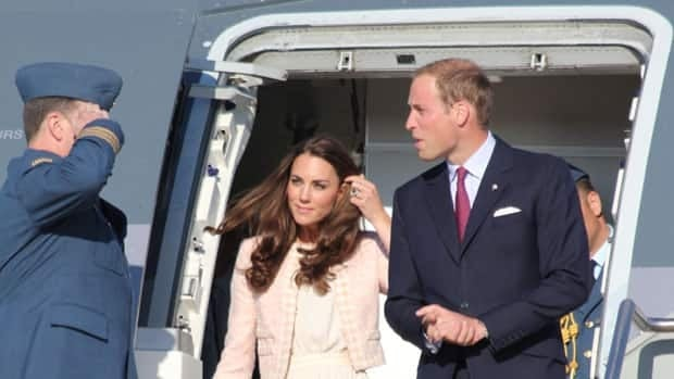Prince William and Kate arrive at the Charlottetown Airport.