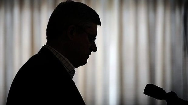Prime Minister Stephen Harper speaks during an announcement in Yellowknife, Northwest Territories on Thursday.