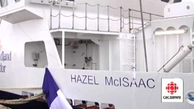 The MV Hazel McIsaac will provide ferry service for residents of Long Island and Little Bay Islands. CBC