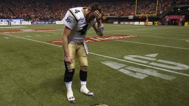 Quarterback Buck Pierce and the Blue Bombers couldn't capitalize on a chance to take their first Grey Cup since 1990, when they beat Edmonton in Vancouver.