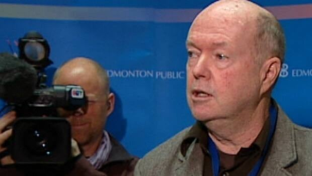 Edmonton public school trustee Dave Colburn addresses student achievement test results for 2010-2011 Wednesday.