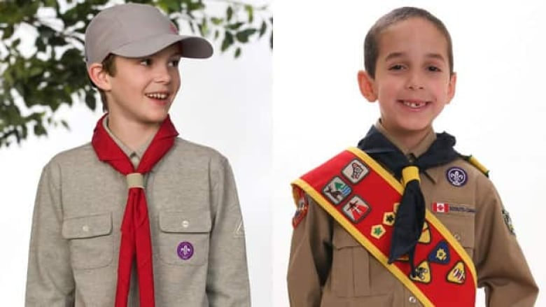 Scouts Canada is modernizing its uniforms. The boy on the left is wearing an  updated version. (Scouts Canada) 1767cc360