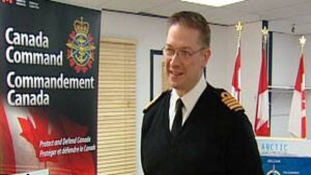 Capt. Steve Waddell, a spokesperson for the Canadian Forces, says co-operation between circumpolar nations on issues such as search and rescue is more common than disputes over sovereignty. (David Croft/CBC)