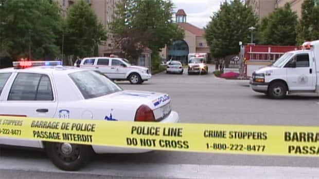 Police cordoned off the Delta Grand resort hotel in Kelowna following a multiple shooting on Sunday afternoon.