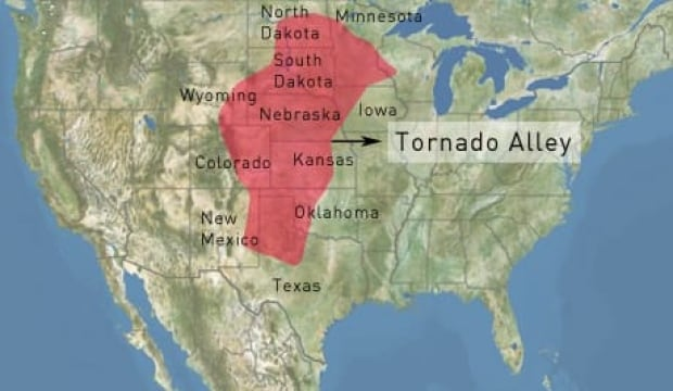 Tornado Alley Is A Nickname For An Area Of The U S Where A High Number Of Tornados Happen Every Year Approximately 40 Per Cent Of All U S Tornadoes