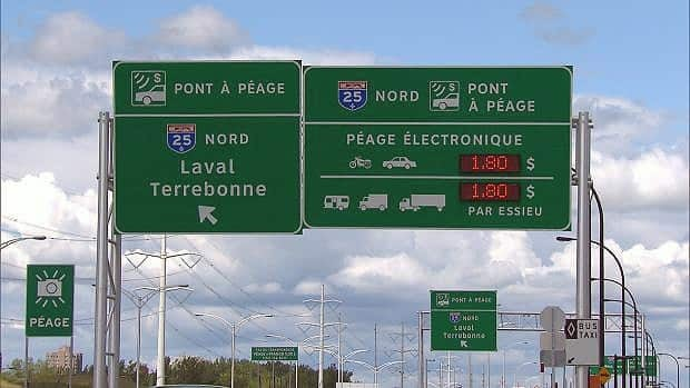 Fifty-six per cent of Montrealers would be in favour of a toll if the money would pay for improvements to roads and bridges.