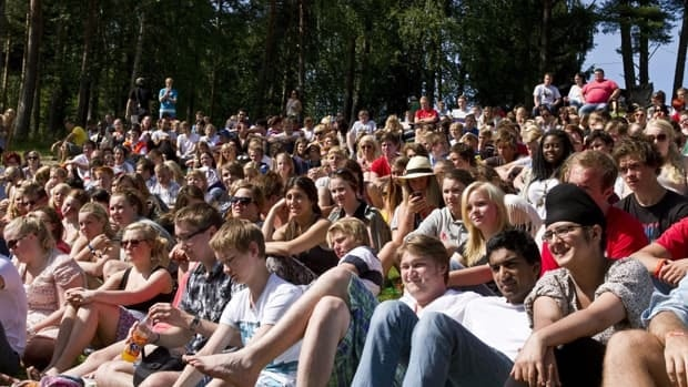 Norwegian teen Julie Bremnes was participating in a Labour Party youth camp on the island of Utoya near Oslo when the massacre began on July 22. She hid behind rocks and texted her mother during the ordeal, which left 68 dead at the camp.