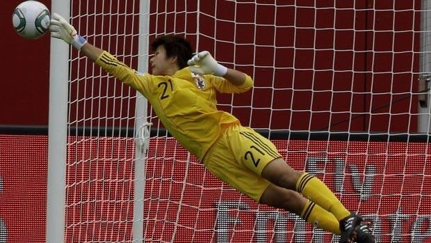 Goalkeeper Ayumi Kaihori and her Japanese teammates are looking to finish first in Group B.