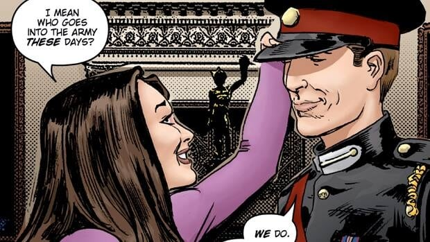 The wedding of Will and Kate has shown up in a number of pop culture contexts, including the graphic novel Kate and William: A Very Public Love Affair by Mike Collins.