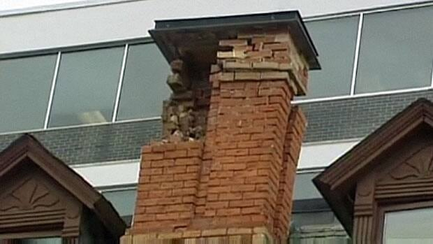 Chimneys crumbled and cracks appeared in older buildings around Ottawa following the 2010 earthquake.