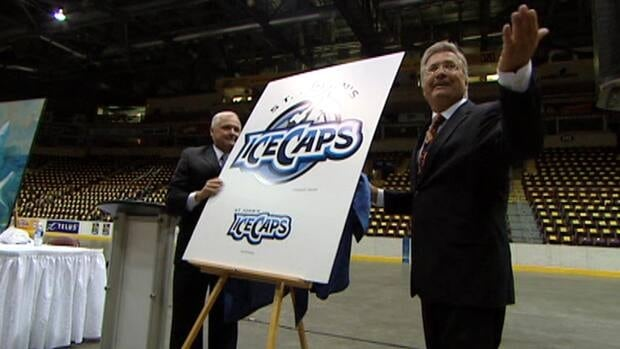 Danny Williams unveiled the new logo for the St. John's IceCaps on Friday at Mile One Centre.