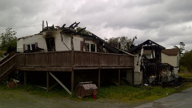 Fire destroyed this Markland, Newfoundland, home on Sept. 8.
