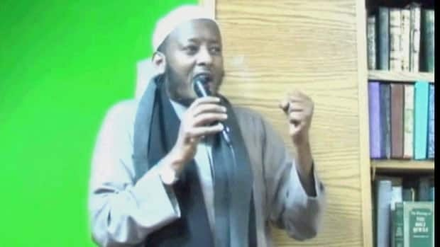 Sorces have told CBC News that Hasan Jama — a director of a Minneapolis Islamic centre where a handful of young Somalis regularly worshipped before disappearing in 2008 — was in Toronto around the time Mohamed Hersi appeared in a Brampton courtroom. (YouTube)