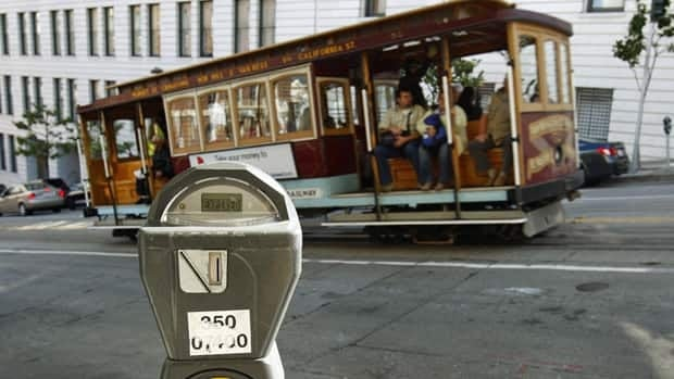 A visitor from Calgary can find a parking stall for a month in San Francisco for $113 less than at home.