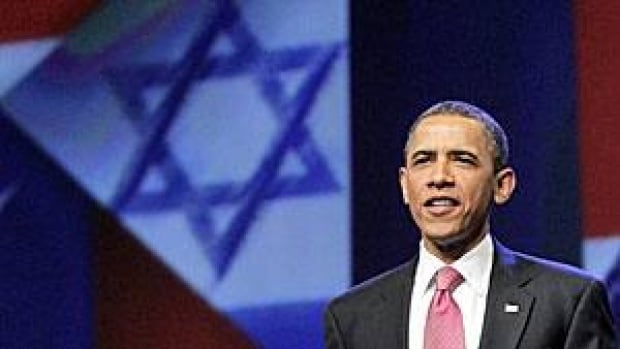 U.S. President Barack Obama arrives to speak at the American Israel Public Affairs Committee convention in Washington on Sunday after clashing publicly with Israeli Prime Minister Benjamin Netanyahu over ideas for a permanent Palestinian state.