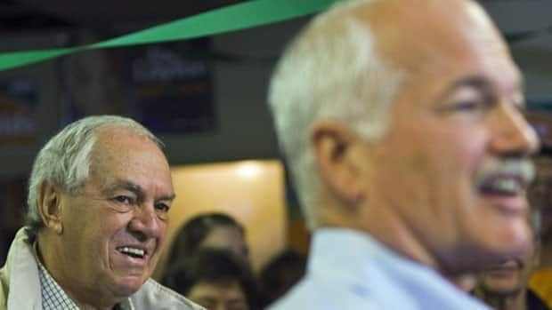 Former NDP leader Ed Broadbent, left, with NDP Leader Jack Layton. Broadbent will announce a new institute for social democracy Friday.