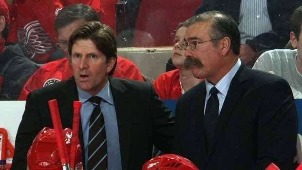 Paul MacLean, right, spent the past five years as an assistant to Mike Babcock in Detroit.