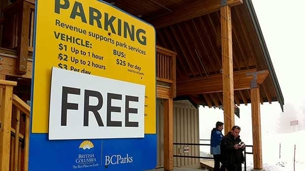 Parking will now be free in all B.C. provincial parks, the premier announced on Tuesday.
