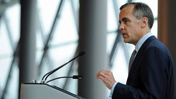 Bank of Canada Governor Mark Carney says housing in some Canadian cities is 'severely unaffordable.'