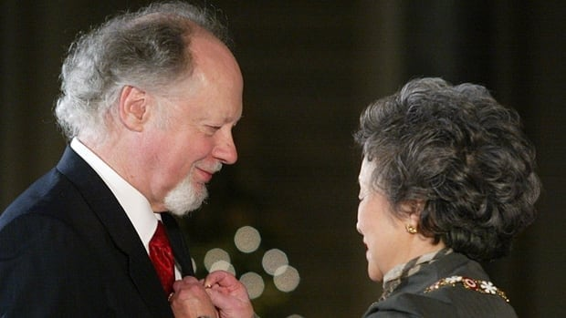 Malcolm Forsyth received the Order of Canada from former governor general Adrienne Clarkson in 2003. The South African-born, Canadian composer died on Tuesday at the age of 74.