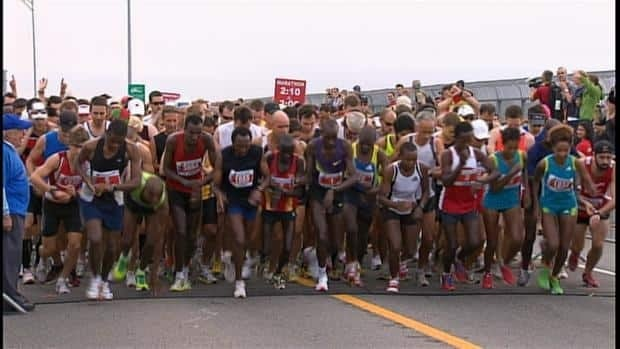 Organizers say the heat and humidity made the race difficult for participants.