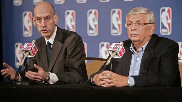 NBA commissioner David Stern, right, and deputy commissioner Adam Silver insist there is a lack of progress in labour talks.