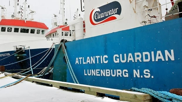 Two of Clearwater Seafoods' trawlers are shown in Shelburne, N.S., in March 2006. The company has recently lost its monopoly on Arctic surf clam.